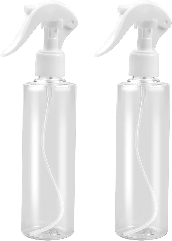 AvoDovA Bote Spray Pulverizador 250 ml, 2 Pz Pulverizador Agua de Gatillo, Botella de Spray Vacías de Plástico Transparente para Plantas, Lejía, Limpieza, Jardinería y Cocina