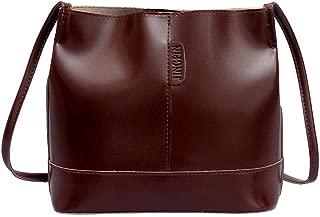 Everpert Women Solid Bucket Bag Pu Leather Fashion Shoulder Satchel Bags