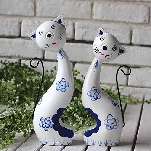 DAJIADS Figurillas Figurillas Estatuas De Buda Estatua Estatuilla Esculturas De Madera Europea Gatos Diseño Manualidad Color Madera Dibujo Figurines Cat Tabla Escultura Decoración Miniaturas para Gi