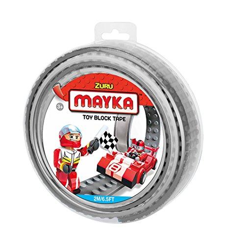 Mayka Tape Zuru Spielbaustein-Klebeband selbstklebend – 2 Pins – Grau – 2 Meter