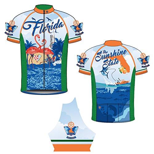 CANARI Men's Souvenir Cycling/Biking Jersey, Florida Retro, XX-Large