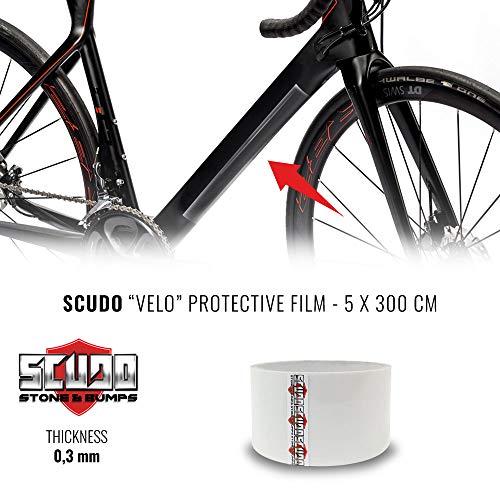 Quattroerre - Rollo de Cinta Adhesiva para Proteger el Cuadro de la Bicicleta, Unisex, para Adulto, Multicolor, Talla única