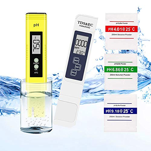 Sanyi Water Quality Test Meter, Professional 4 in 1 TDS Meter Digital Water Test Meter PH Meter Kits, 0-14.00 PH and 0-9999 PPM Measure Range for Drinking Water, Hydroponics Aquariums, Swimming Pools