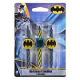 Batman Birthday Cake Candles - 6 pc