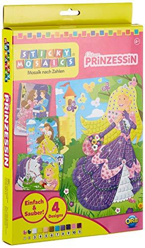 Orb Factory ORB63795 - Loisirs Créatifs - Princesses brillantes - Sticky Mosaiques Autocollantes aux Numéros (en Allemand)