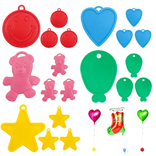 20 Pcs Luftballons Gewichte Kunststoff Wiederholter Gebrauch Heliumballons Gewichten Für Kinder Partys Feiern Feste