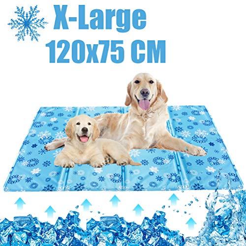 Bingpet Kühlmatte für Hunde, selbstkühlend, Gel-Polster für Sommer-Schlafbetten, Zwinger, Kisten – Wasserwellenmuster