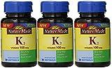 Nature Made Vitamin K2 100 mcg Softgels 30 (3) (Packaging May Vary)