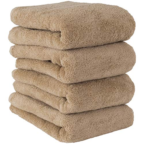 Towel Laboratory Volume Rich #003 Bath Towel, Sand Beige, 4-Piece Set, Fluffy, Hotel Specifications, Fast Absorbent, Durable, Popular, 5 Colors to Choose From Japan Technology