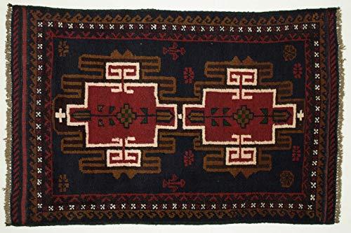 Belutsch Teppich Afghan 125x80 Orientalischer Beloutsch 80x130 Handgeknüpft 29