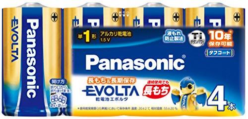 パナソニック エボルタ 単1型アルカリ乾電池 4本パック LR20EJ/4SW