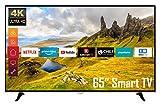 Telefunken D65U400N1CW 65 Zoll Fernseher (4K Ultra HD, HDR, Triple Tuner, Smart TV, Works with Alexa)