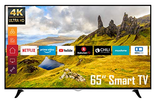 Telefunken D65U400N1CW 65 Zoll Fernseher (4K Ultra HD, HDR, Triple Tuner, Smart TV, Works with Alexa)