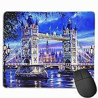 ロンドン ブリッジ マウスパッド ゲーミング オフィス最適 防水 耐久性が良い 滑り止めゴム底 マウスの精密度を上がる 25x30cm