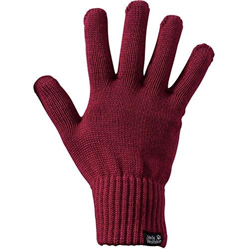 Jack Wolfskin Unisex Milton Glove Winter-Handschuhe, Dark Ruby, M