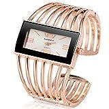 FVNRDS Relojes de Mujer Pulsera Reloj para Mujer Relojes exclusivos para Mujer Reloj de Pulsera de Acero Completo Reloj para Mujer Reloj, B