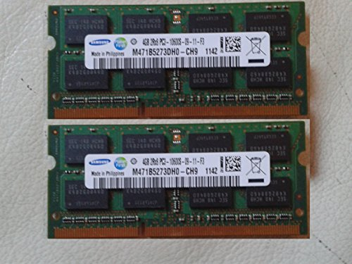 Hynix D3S1333-D4G-MCL-FBA - Kit de Memoria RAM DDR3 de canal doble (PC3 10600S, 2 x 4 GB, 1066 MHz, SO-DIMM)