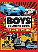Cars, and Trucks Coloring Book for Kids, 100 pages: Coloring Book for Kids, Ages 4-10