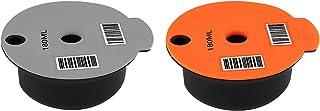FLAMEER 2x Réutilisable PP Café Capsule Pod avec Slicone Couvercle pour Bosch Machine, Faire Votre Café Préféré - 180 ml