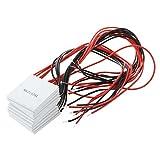 TOOGOO(R) 10 piezas TEC1-12706 Efecto Peltier de refrigerador Modulo termoelectrico 12V 60W 72W