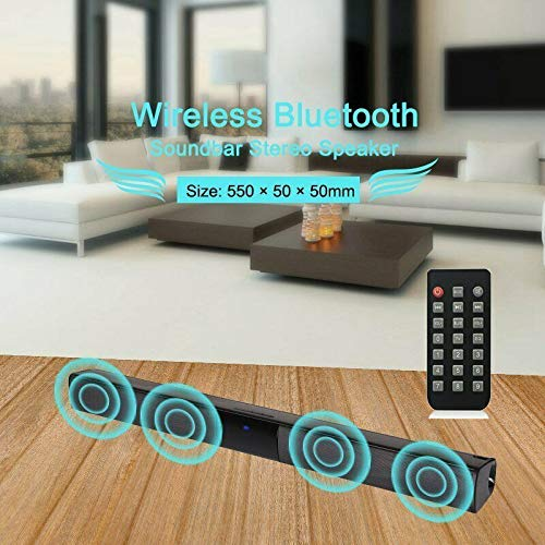 Rabusion Electronics For Wireless Bluetooth Sound Bar Speaker System TV Home Theater Soundbar Subwoofer 4 Speak Driver Remote Control