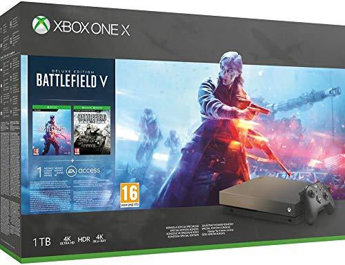 Microsoft Xbox One X - Consola 1 TB + Battlefield V