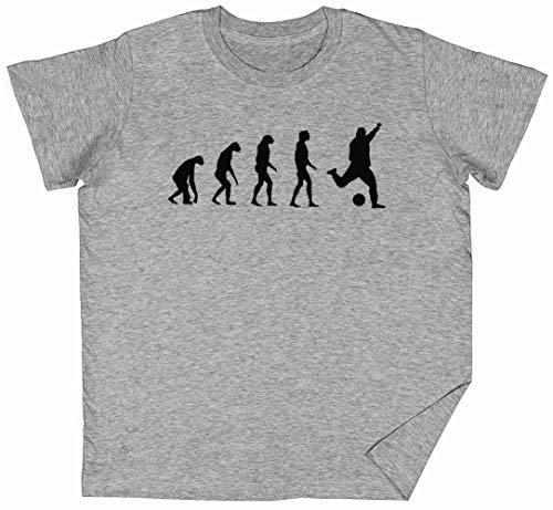 Evolucionado A Tocar Fútbol Gris Niños Chicos Chicas Camiseta Unisexo Tamaño S Grey Kid