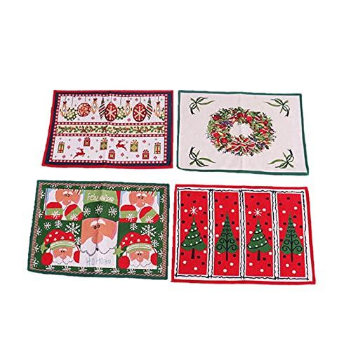 Komopesu Navidad Home Decoraciones de goma de punto Mat piso Mat Navidad puerta Mat (estilo de río)