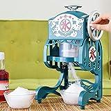 Elektrischer Rasierte Eismaschinen mit Edelstahl Blatt, Große Kapazität Tragbare Home Dicke Einstellbare Eisrasiermaschine, Eiscrusher Maschine für kalte Getränke und Cocktails