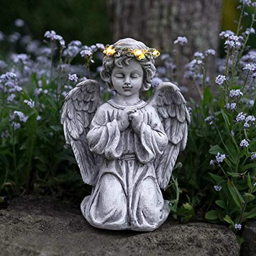 Festive Lights - Statuetta Decorativa a Forma di Angelo, a energia Solare, per Esterni