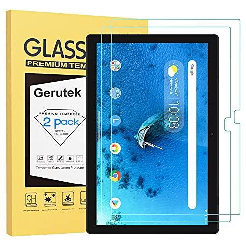 Gerutek [2 Stück] Schutzfolie Lenovo Tab M10/M10 HD 10,1 Zoll TB-X505F/TB-X505L/TB-X605F/X605L 9H,2.5D, Hülle Freundllich, Anti-Kratzen, Anti-Bläschen Displayfolie Schutzglas Displayschutz für Tab M10