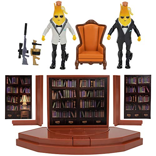 Fortnite Agent?s Room Agent Peely, Includes 2 (4-inch) Articulated Agent Peely Figures, Playset with Secret Passageway, Legendary Accessories, Weapons, Accessory Storage.