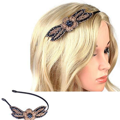 Beelittle jaren 20 haarband vintage strass flapper headpiece crystal haaraccessoires voor grote gatsby kostuum roaring 20 jaar feestjurk dress-up accessoires