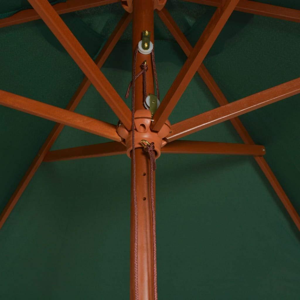 vidaXL Sombrilla de Pie Parasol Pedestal Toldo Cubierta Jardín Balcón Carpas Paraguas Playa Piscina Aire Libre Exterior Terraza Verde: Amazon.es: Hogar