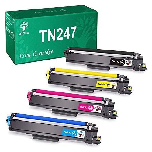 GREENSKY Cartuccia di Toner Compatibile Ricambio per Brother TN247 TN243 per HL-L3210CW HL-L3230CDW HL-L3270CDW MFC-L3710CW MFC-L3730CDN MFC-L3750CDW MFC-L3770CDW DCP-L3510CDW DCP-L3550CDW(4 Pacco)