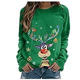Myun Weihnachten Pullover Damen, Teenager Mädchen Weihnachtspulli Rudolph Rentier Elfe Weihnachtspullover Just Hanging with My Gnomies Weihnachtsmann Christmas Sweatshirt...