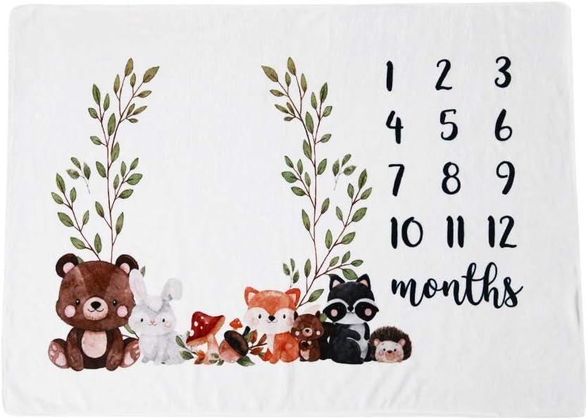 Manta para recién nacidos, con diseño europeo – La manta para bebé como fondo fotográfico con bonitos osos impresos y motivos infantiles, regalo para niños y niñas