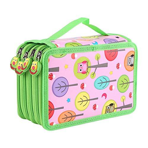 DUBENS Gran Capacidad 72 Slots lápiz de caja para bolsas, niño lápices de colores acuarelables, estuche, caja, estuche, estuche escolar, Pencil Case, Funda, escolar, bolígrafos funda, color Rosa