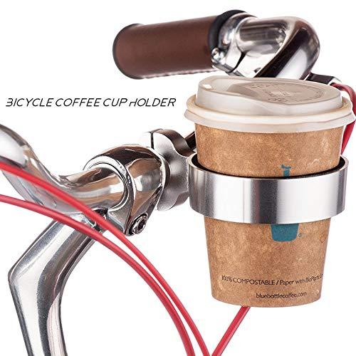 Evetin Getränkehalter Becherhalter Kaffeehalter Becherhalter Dosenhalter Rollator Rollstuhl Kinderwagen Fahrrad Gehwagen Gehhilfe MTB Road Bike Radfahren 01 (Silber)