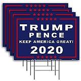 Élection présidentielle américaine recto-verso signe de la cour de Donald Trump, signe et campagne d'intérêt signe de l'élection présidentielle de la campagne, décoration extérieure jardin Archway