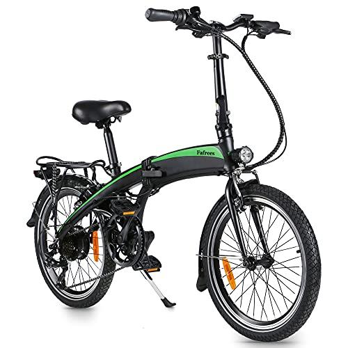 Bicicleta Eléctrica Plegables, 250 W Marco Plegable de 20 Pulgadas Bicicleta eléctrica Engranajes de 7 velocidades con batería de Iones de Litio de 7.5Ah extraíble para viajeros - [EU Warehouse]