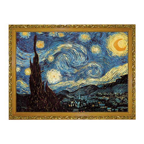 STOBOK Rompecabezas de Cielo Estrellado Rompecabezas de Noche Estrellada Rompecabezas de Pintura Al Óleo Juguete Educativo Decoraciones de Oficina en Casa