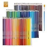 TOPERSUN pastelli set di matite colorate 72 colori esagonali idrosolubili con un pennarello per schizzi la pittura e la colorazione regalo ideale per artisti adulti e bambini