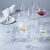 Leonardo Wasserglas Ciao+, 6-er Set, 300 ml, spülmaschinenfest, Teqton-Kristallglas, 061453 - 9