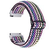 Chofit Correa compatible con Garmin Venu Sq/Amazfit Bip U Pro/Amazfit GTS 2e/Samsung Galaxy Watch 3 41 mm, correas elásticas de nailon tejido con patrón floral de repuesto de 20 mm (# 9)