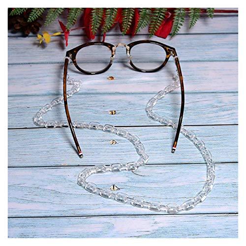 DSKLM Cadena de Gafas y cordón Gafas de Sol acrílico Cadena Chic Chic Womens Anti Deslizamiento Lectura Gafas Gafas para Cuerda Soporte Correa Correa Lanyard 72cm para decoración (Color : M)