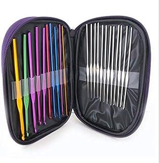 SKEIDO Knitting tool 0.6-6.5mm Crochet Hooks Handle Aluminum Alloy Knitting Knit Needles Weave Craft Yarn DIY Multicolor M...