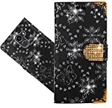 FoneExpert® Wileyfox Swift 2 Handy Tasche, Bling Luxus Diamant Wallet Hülle Flip Cover Hüllen Etui Hülle Ledertasche Lederhülle Schutzhülle Für Wileyfox Swift 2 / Swift 2 Plus