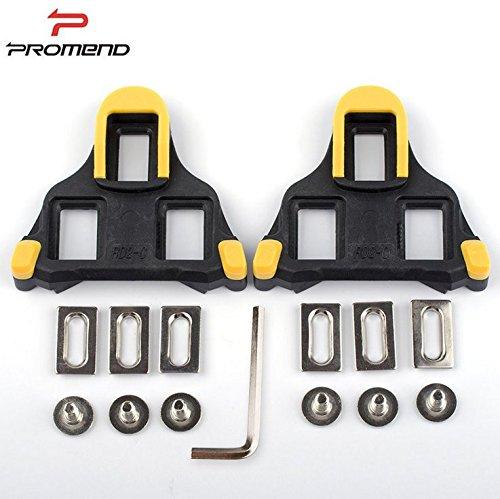 Promend Flycoo Pedal Paar, Anti-Rutsch-Pedale SPD-SL 6 Grad Float Auto Pedal Wedge für Rennradschuhe, gelb