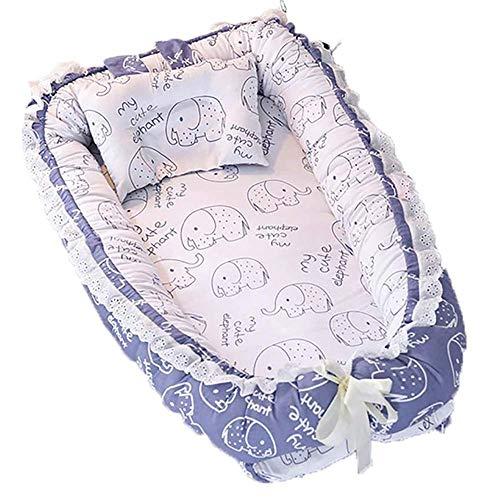 YYhkeby Cama portátil plegable para bebé, cama de viaje, desmontable y lavable, colchón nido con suave pi. Jialele (tamaño: A)